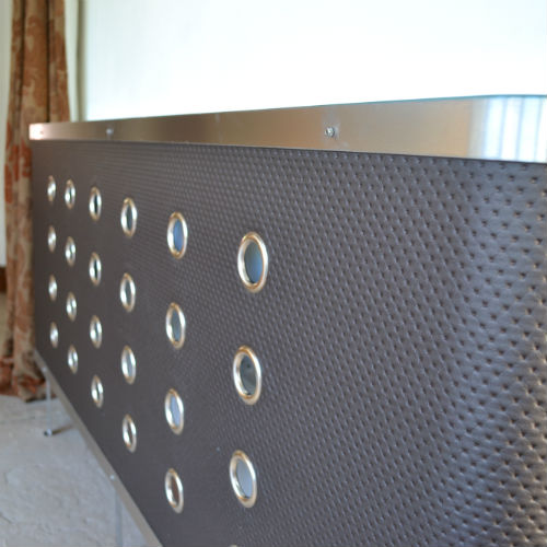 textured black vinyl bespoke radiator covers