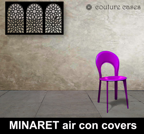Minaret-laser-cut-metal-air-conditioning-covers