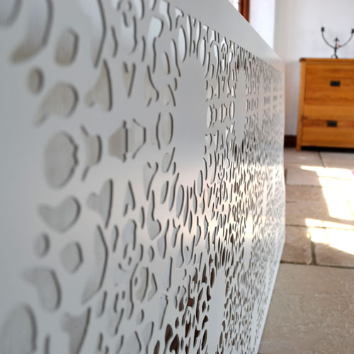 Laser cut Lace fretwork radiator covers