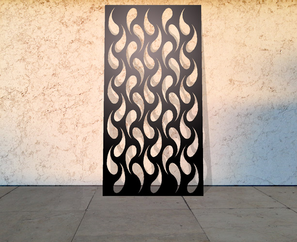 Custom laser cut panels for the home and business modern for Modern screen design