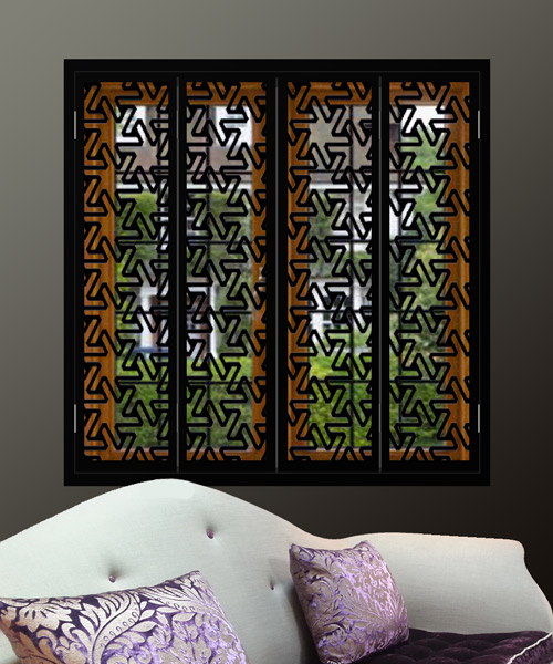 black-window-shutter-grilles-in-zigzag-pattern
