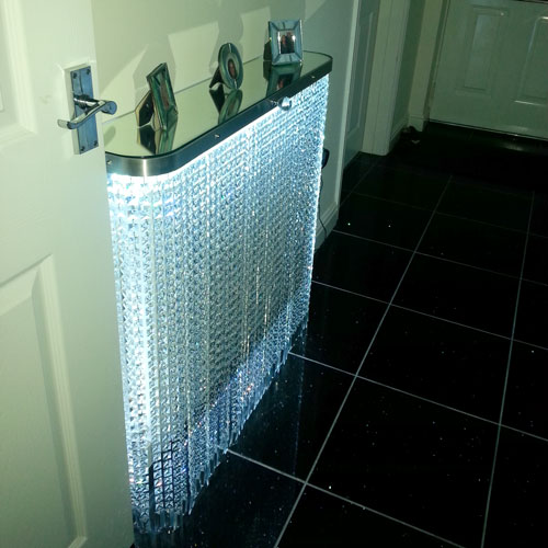 crystal-glass radiator covers with led lights