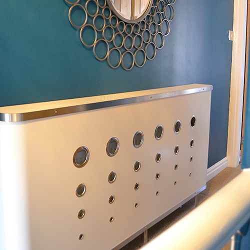 Deco White Radiator Cover
