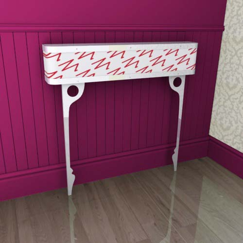 Console zigzag red Radiator Cover