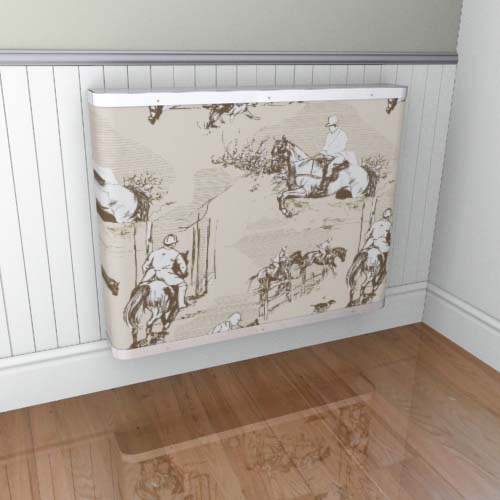 Toile Horses Cream 1 Radiator Cover