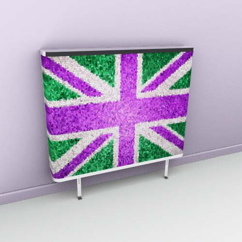 Union Jack Purple Mosaic Radiator Cover