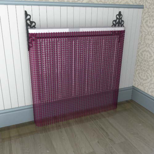 Crystal Red Cover Radiator Cover