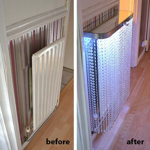 Before and After Crystal Radiator Cover