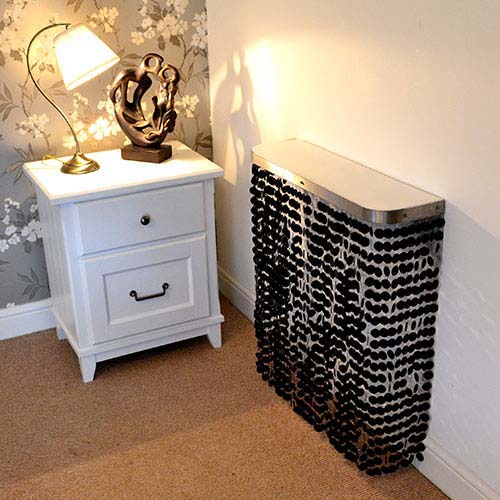 LUNA Black Radiator Cover
