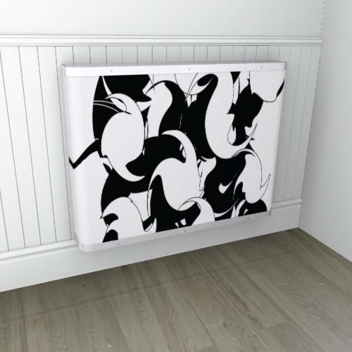 Twister 1  Black / White Radiator Cover