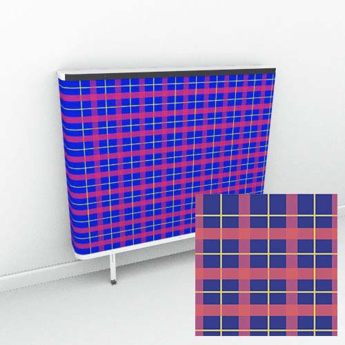 Blue Red Tartan Radiator Cover