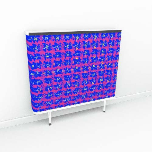 Blue Red Tartan Extreme Radiator Cover