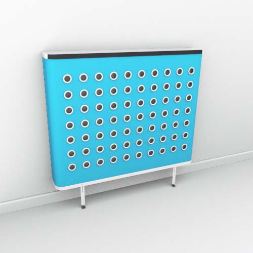 YOYO Colour Blue White Radiator Cover