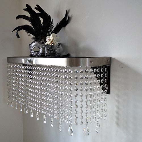 Crystal Console table 250mm Radiator Cover