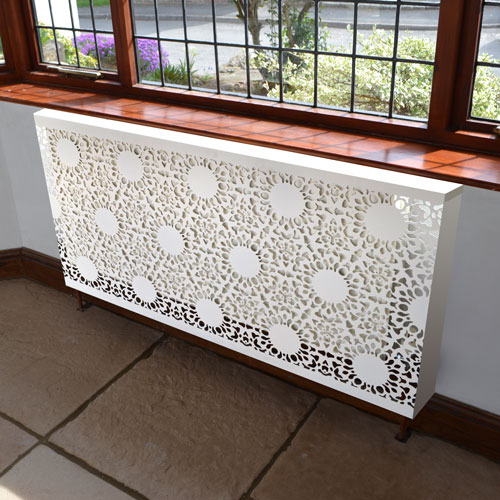 Nottingham Lace cover Radiator Cover