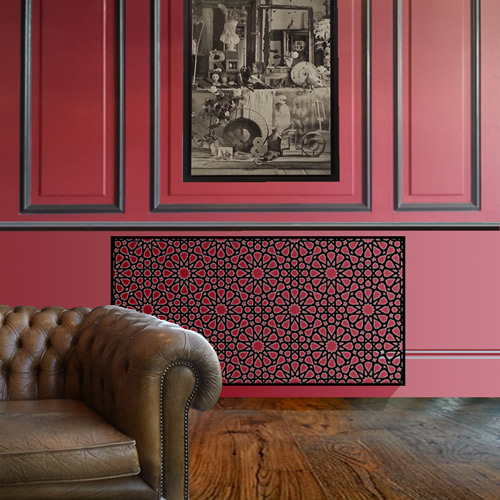 red-wall-persian-radiator-covers.jpg Radiator Cover