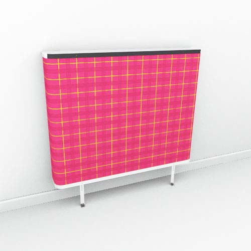 Red Yellow Tartan Radiator Cover