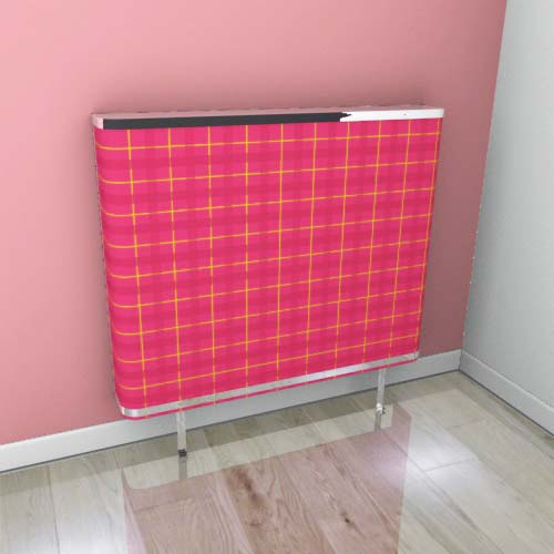 Red Yellow Tartan 2 Radiator Cover