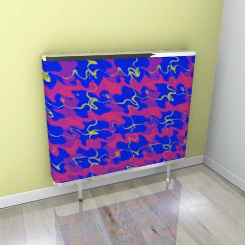 Tartan Blue Ripple 2 Radiator Cover