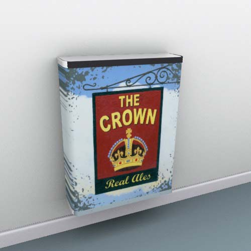 The Crown Pub Sign Radiator Cover