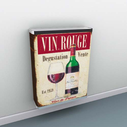 vin-rouge-metal-sign1.jpg Radiator Cover