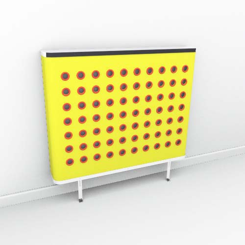 YOYO Colour Yellow Red Radiator Cover