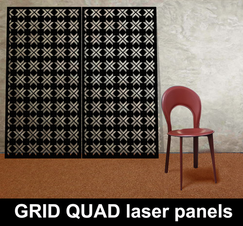 Geometric Designs For Laser Cut Panels For The Home And