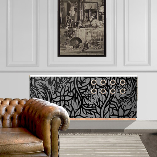 black and white graffiti-radiator-covers