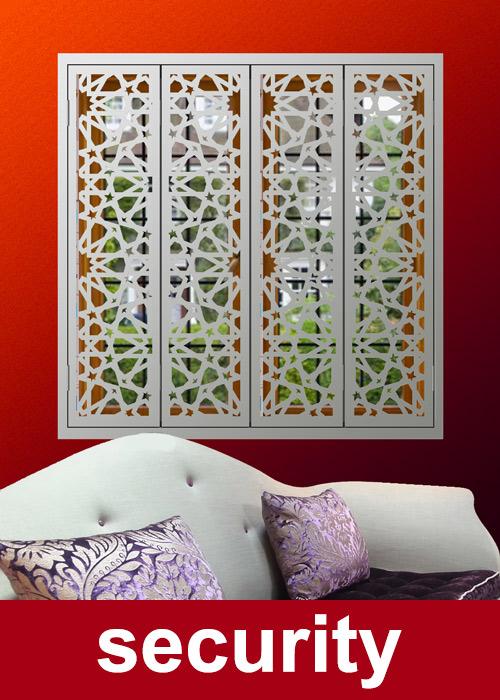 security-shutters for modern windows