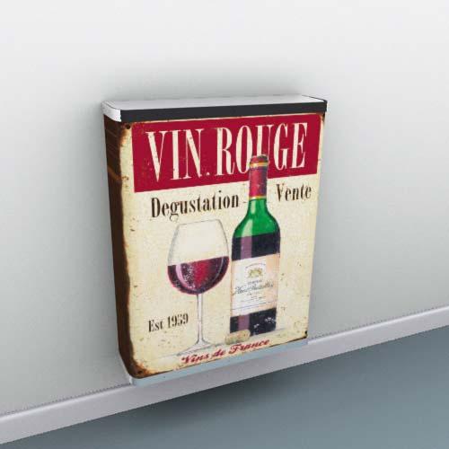 vin-rouge-metal-sign1.jpg Radiator Cover