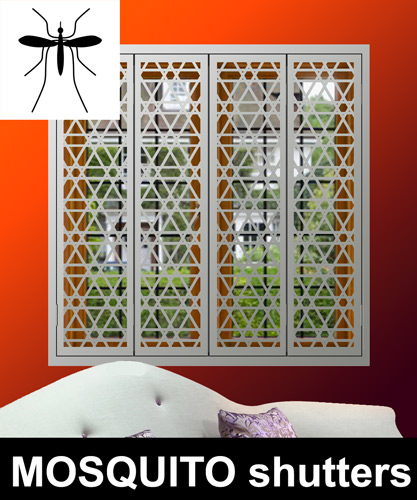 Decorative Security Shutters With Mosquito Screens