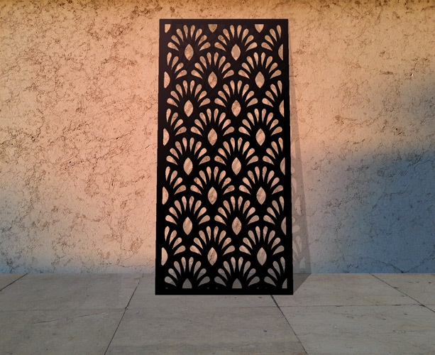 Laser cut metal screens in decorative patterns modern Exterior shutters with cut out designs