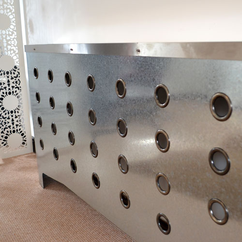 Galvanised covers Radiator Cover