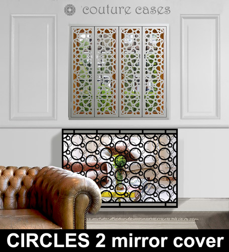 Circles mirror radiator covers and console tables Radiator Cover