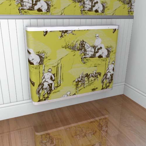 Toile Horses Green 2 Radiator Cover