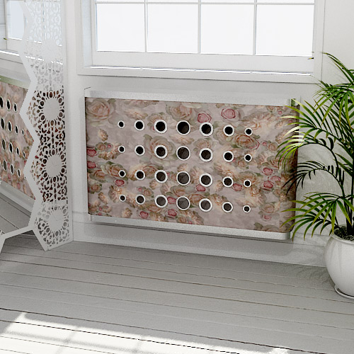 Floating Florals Radiator Cover