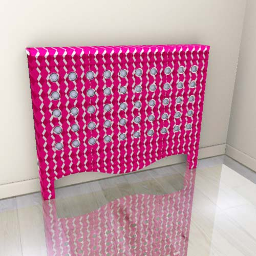 Geo Fine Pink Radiator Cover